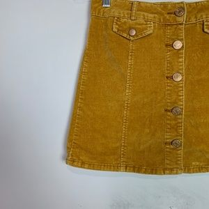 fd9f108c0 Urban Outfitters Skirts - BDG Mustard yellow corduroy a-line button up skirt